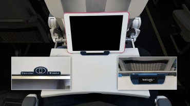 SKYCAST SOLUTIONS UNVEILS REMOVABLE TABLET AND SMART PHONE HOLDER FOR AIRLINE PASSENGERS